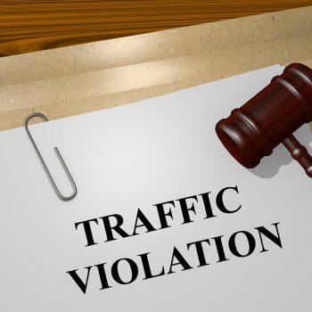 Render illustration of Traffic Violation Title On Legal Documents