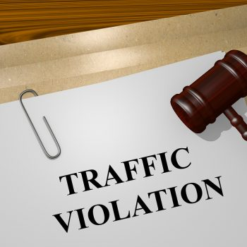 Render illustration of Traffic Violation Title On Legal Documents